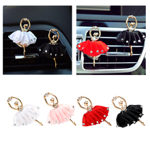 Car Styling Car Air Vent Perfume Auto Outlet Air Freshener Auto Decors 4 Colors Solid Fragrance Diamond Ballet Girl(China)