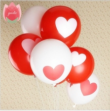 10pcs/lot 12inch Love Heart Pearl latex balloon Float air balls inflatable wedding Christmas birthday party decoration toys(China)