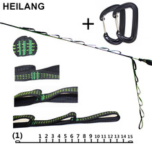 Strong Hammock Strap Hanging Hammock Belt Hamaca Hamak for Camping,Portable Hanging Tree Rope With Hammock Safety Buckle Hook(China)