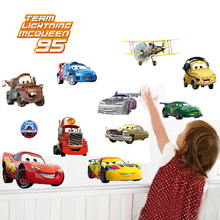 Mcqueen Wall Sticker Home Decor Cartoon Wall Decal DIY for Kids Room Decal Baby Vinyl Mural Nursery  xy3017