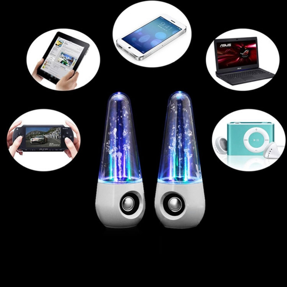 Portable LED Light Water Dancing Speaker Parlantes HIFI 3D Surround Subwoofer Stereo Support Computers Music Active Speakers