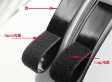 2cm*25Meters Adhesive Fastener tape Hook and Loop sticky back fastener tape White or Black glue sticky straps(China)