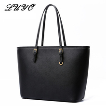 2017 Fashion Pu Leather Large Girls Shoulder Bag Female Bucket Black Tote For Shopper Ladies Designer Handbags Michael Pochette(China)