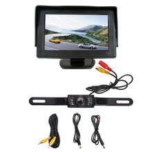 "4.3 ""TFT high definition Support Car display + 7 lamp CCD infrared waterproof Auto cable camera New"