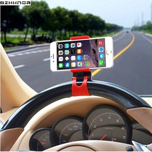 SZHXNOR Mobile Phone Holder Mount Clip Buckle Socket Hands Free Car Steering Wheel for iPhone 6 5 4 7 8 x HTC Samsung Galaxy PDA(China)
