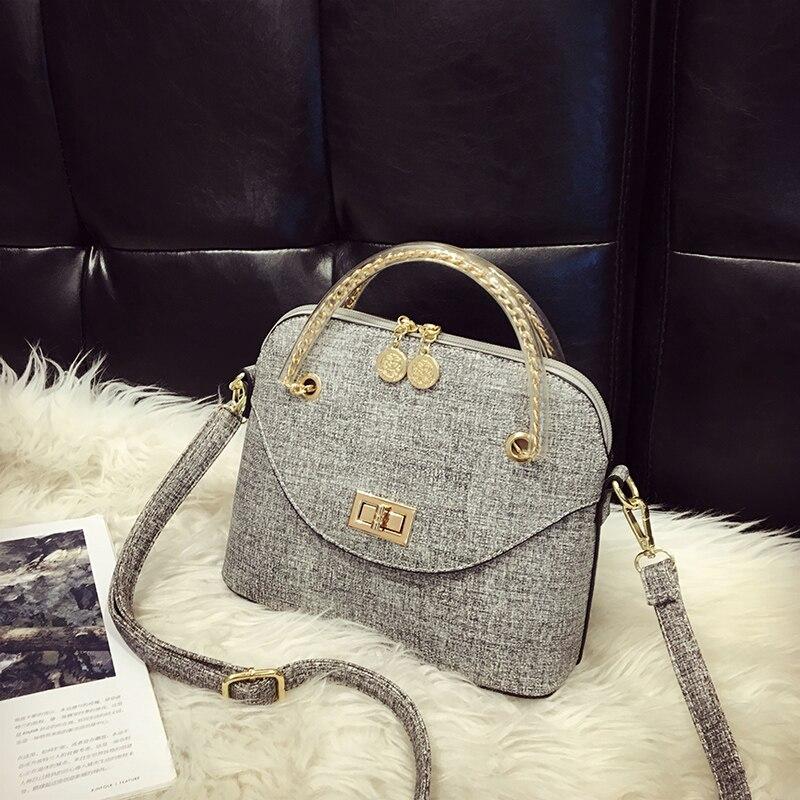 Free shipping, 2017 new woman trend handbags, retro leisure messenger bag, simple Korean version women bag, fashion shell flap.<br><br>Aliexpress
