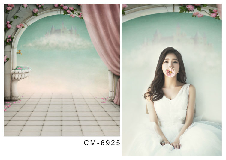 Customize vinyl cloth print wonderland wallpaper photo studio backgrounds for portrait photography backdrops props CM-6925<br>