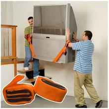 New 2PCS Lifting Moving Strap Furniture Transport Belt In Wrist Straps Team Straps Mover Easier Conveying Belt Orange