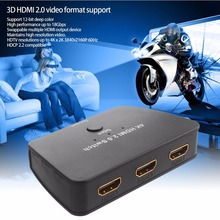 3 Port HDMI Switch Switcher Ultra High Definition 4K HDMI Splitter HDMI Port for XBOX 360 Smart Android PC 3 Input to 1 Output(China)