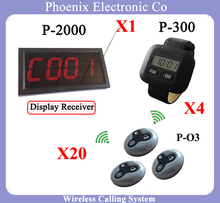Wireless Waiter Paging System Calls For Restaurant Equipment Including Food Order Pager And Menu Display And Waterproof Buttons(China)