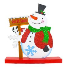Best Christmas decorations Snowman living room Decoration 18 * 19cm(China)