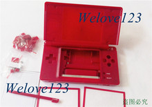 Full Repair Parts Replacement Housing Case for NDSL DSL DS Lite Game Console Red Color-for Mario Version