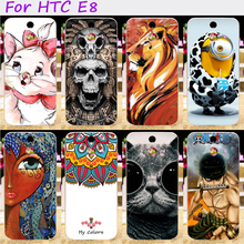 Hard Plastic Cool Skull Cute Minions Flower Phone Cases For HTC One E8 One M8SD Ace Dual Sim M8SW M8ST Phone Cover Accessories