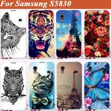 High Quality DIY painting Cell Phones for samsung s5830 Hard Case For Samsung Galaxy Ace S5830 5830 case cover Free Shipping(China)
