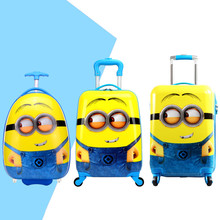 16'' 18'' 20''  Boys Girls Yellow Minions Rolling Luggage/Children Despicable Me School Bags With Wheels/Cartoon Travel Suitcase