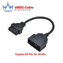 New for Toyota 22 Pin To 16 Pin Female OBD 2 Cable for toyota 22pin Connector Adapter Cable Car Diagnostic Tool Free shipping