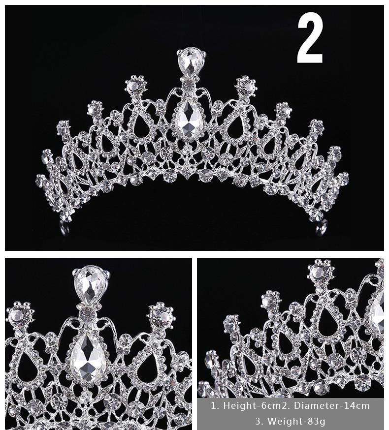 Diverse Silver Crystal Bride tiara Crown Fashion Pearl Queen Wedding Crown Headpiece Wedding Hair Jewelry Accessories Wholesale 3