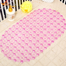 MustHome 38x68cm PVC Bath Mat With Sucker Nin Slip Bathtub Mats