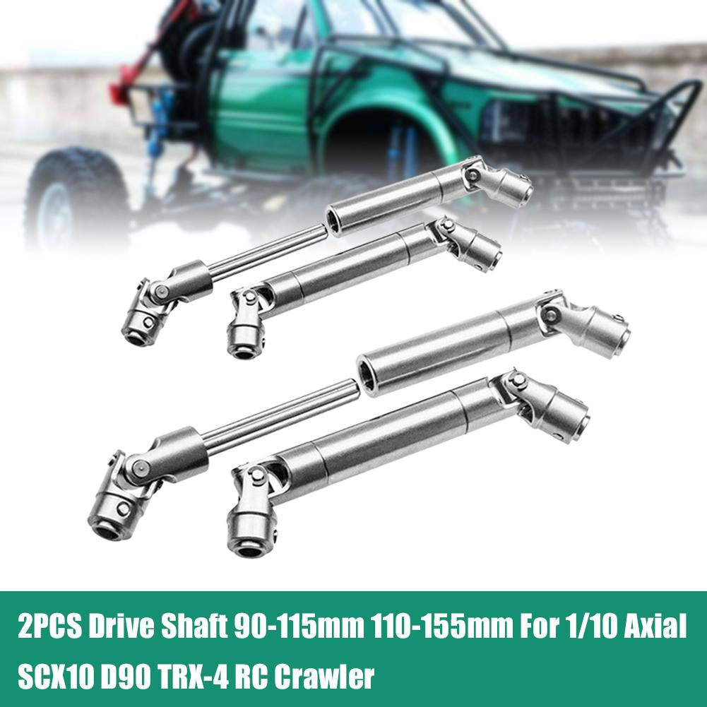 2PCS RC Crawler 90mm Stainless Universal Drive Shaft for 1//10 RC Axial SCX10 D90