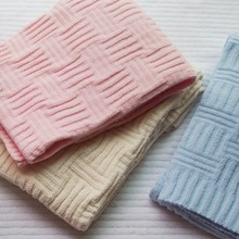 102*76cm beige/pink/blue chenille knitted blanket baby throw blanket kids sofa knit thread blanket cover nap blankets office