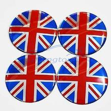 65mm car wheel center sticker wheel hub cover car decals and graphics 4pcs car flag sticker