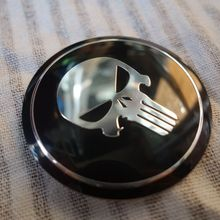 Cool Punisher Car Steering tire Wheel Center car sticker Hub Cap For Cadillac XTS ATSL SLS CTS XTS SRX High quality Remote(China)