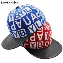 LOVINGSHA Letter Doodle Design 3-8 Years Old Kid Snapback Caps Girl Baseball Caps Children High Qaulity Adjustable Boy Cap CC106