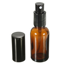 New 1PCS 30ML Amber Glass Atomizer Bottle Vial For Essential Oil Perfume Water Spray Bottles Dark Brown Cosmetic Containers(China)