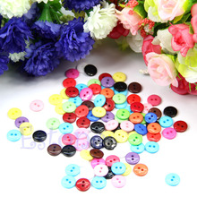 100pcs Resin Buttons 10mm Mixed Color Round Shape Sewing Accessories Hot good quality