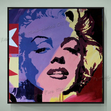 Hand Painted Oil Paintings Pop Art Marilyn Monroe Canvas Art Home Decoration Modern Oil Painting Canvas Paintings XY019