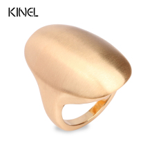 Kinel Hot 2017 Natural Style Ring Fashion Gold Color Punk Rock Big Oval Rings For Women Love Gift Vintage Jewelry(China)