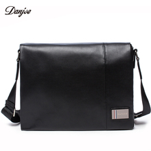 DANJUE Genuine Leather Men Business Bag High Quality Casual Shoulder Bags Male Brand Trendy Messenger Bag Man Leisure Daily Bag(China)