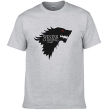 Buy 2017 Game Thrones T Shirt Men Wolf Printed Fashion Tops Winter coming Man Summer Style Clothing Cool Tee #077 for $6.13 in AliExpress store