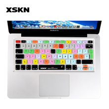 XSKN US EU Version Shortcut Keyboard Cover Final Cut Pro Version 7 Video Edit Silicone Keyboard Cover Skin for Apple Macbook Pro(China)