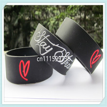 Stay Strong Demi Lovato Inspired Silicon Promotion Gift Wristband Bracelet,free shipping(China)
