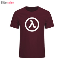 2017 Top New Summer Fashion Half Life T Shirt Men Cotton Printed Mens Clothing With Short sleeve T shirt Euro Size