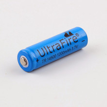 5 PCS/LOT super fire AA 14500 mah 3.7 V lithium ion rechargeable batteries and LED flashlight, free delivery