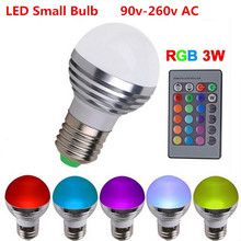 new 1pcs RGB led bulb E27 220V AC  Magic Light Bulb Lamp 16 Color Changing Led Light Spotlight + IR Remote Control