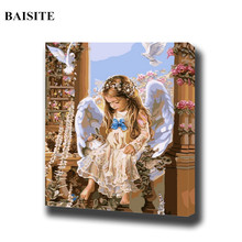 BAISITE Frameless Pictures DIY Oil Painting By Numbers Modern Canvas Painting On The Wall Art Pictures For Home Decoratiion H011(China)