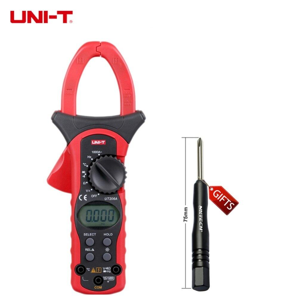 UNI-T UT206A 1000A Digital Clamp Meters Earth Ground Megohmmeter Multimeter Voltage Current Resistance Insulation Tester<br><br>Aliexpress