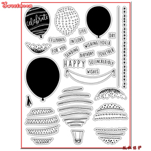 HAPPY CELEBRATE TOGETHER WISH Scrapbook DIY photo card account rubber stamp clear stamp transparent stamp card maker SWEETMOON(China)