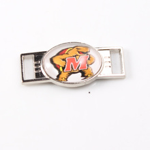 Maryland Terrapins NCAA Team Logo Oval Shoelace Charms For Sport Shoes And Paracord Bracelets Jewelry Decoration 6pcs(China)