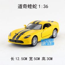 High simulation super car,1:36 scale alloy pull back cars,2 open door,Dodge Viper,gift toys,free shipping