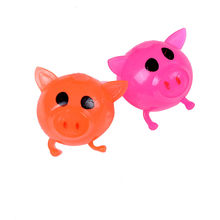 Hot Sale Cute Pig Anti stress Decompression Ball Vent Toy Venting Ball Sticky Smash Water Ball Toys Random colors 1Pcs(China)
