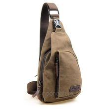 Fashion Men Chest Bags Casual Canvas Messenger Bag Small Size Men's Travel Shoulder Bag