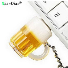 SHANDIAN New arrival beer mug style usb flash drive beer glass pendrive 8gb 16gb 32gb bottle memory stick pen drive thumb drive(China)