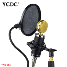 Hot selling+5pcs/lot Microphone Pop Filter Flexible Studio Microphone Mic Wind Screen Pop Filter Mask Shied Double Layer