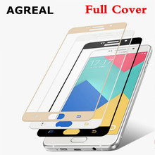 3D Curved Edge Full Cover Premium Tempered Glass Screen Protector for Samsung Galaxy A5 2016 A5100 A7 2016 A7100 Protective Film