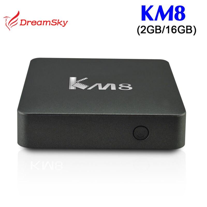 10pcs/lot Original KM8 Amlogic S905X  Android 6.0 TV Box DDR3 2GB/eMMC 16GB Support 4K BT4.0 Kodi 17.0 smart android tv box<br><br>Aliexpress