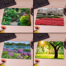 Beautiful Garden Rubber Soft gaming mouse Cool Games black mouse pad